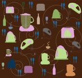 för tacklutensils för kök seamless wallpaper stock illustrationer