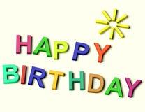 för ungebokstäver för födelsedag lycklig spelling Royaltyfria Bilder