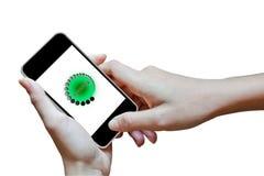förbind mobilt folk för päfyllning fortfarande till Arkivbild