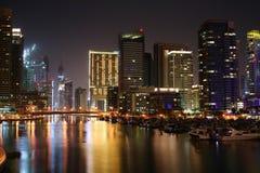 förenad arabisk natt för dubai emiratesmarina Arkivfoton