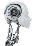 försiktig robotic kvinna