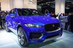 F-pas de Jaguar à l'IAA 2015 Images libres de droits