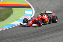 F1 Photo - Formula One Ferrari Car : Kimi Raikkonen Royalty Free Stock Image