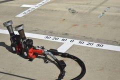 F1 Pitlane Wheelguns Photos stock