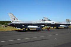F-16 português da força aérea Fotos de Stock