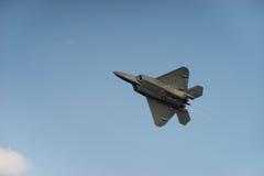 F-22 ptak drapieżny po palników zdjęcie royalty free