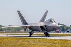 F-22 ptaka drapieżnego taxiing Zdjęcia Stock