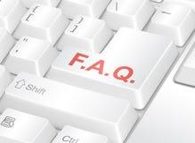 F A Q Concept Royalty-vrije Illustratie