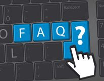 F.A.Q. - Frequently Asked Questions Stock Image