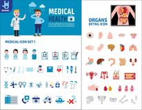 F?r best?ndsdeldesign f?r v?rd- medicinsk vektor infographic illustration stock illustrationer