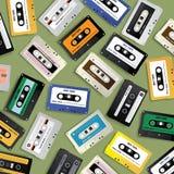 F?r kassettband f?r tappning Retro mall f?r design f?r modell stock illustrationer
