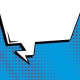 F?r popkonst f?r abstrakt id?rikt begrepp komiskt mellanrum f?r stil, orienteringsmall med molnstr?lar och isolerad prickbakgrund stock illustrationer