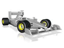 F1 race car. 3d illustration of formula one race car Royalty Free Stock Photography
