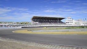 F1 race car stock video footage