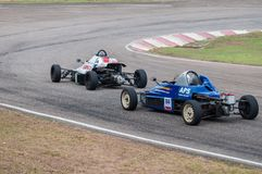 F1 Racing cars in srilanka Stock Photo