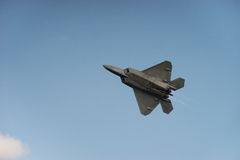 F-22 Raptor after burners Royalty Free Stock Photo
