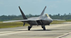 F-22 Raptor Fighter Jet Royalty Free Stock Photography