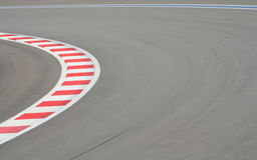 F1 rasspoor stock foto