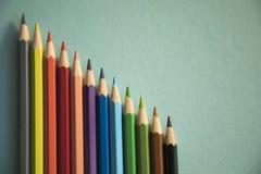 F?rben Sie Bleistiftform-Zusammenfassungslinien Muster stockfotos
