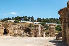 F?rd?rvar av baden av Antoninus carthage tunisia arkivfoton