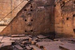 F?rd?rvar av den Yeha templet i Yeha, Etiopien, Afrika arkivfoto