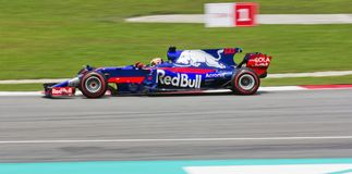 F1 RedBull Team. Team RedBull race at Sepang International Circuit Stock Images