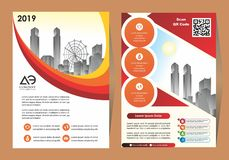F?retags reklamblad, orienteringsmall med beståndsdelar för bild royaltyfria foton