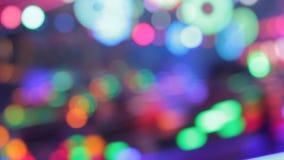 Färger för natt för nöjesplats för funfair för Synthwave diskoljus av nöjesfältet lager videofilmer