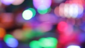 Färger för natt för nöjesplats för funfair för Synthwave diskoljus av nöjesfältet arkivfilmer