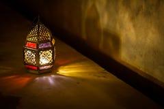 F?rgglad arabiska Ramadan Lantern royaltyfria bilder