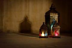 F?rgglad arabiska Ramadan Lantern royaltyfria foton