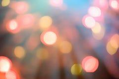 F?rgglad ljusbokehbakgrund royaltyfri foto