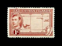 F?rgglade Cayman?arna portost?mplar royaltyfri foto