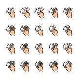 F?rglinjen symbol st?llde in av handlaggester royaltyfri illustrationer