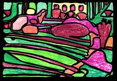 f?rgrik abstrakt bakgrund stock illustrationer