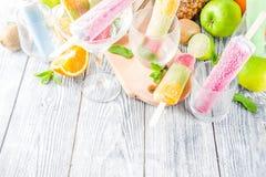 F?rgrik fruktglassisglass fotografering för bildbyråer