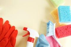 F?rgrik reng?rande upps?ttning f?r olika yttersidor i k?k, badrum och andra rum fotografering för bildbyråer