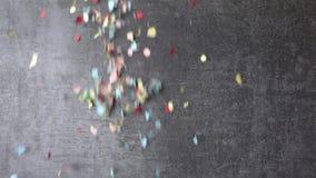 F?rgrikt falla f?r konfettier lager videofilmer