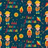 F?rias de ver?o brasileiras de Festa Junina ilustração stock