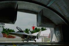 F -22 roofvogel, Amerikaans militair vechtersvliegtuig Stock Afbeeldingen