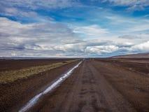 F-route islandaise dans le désert central de l'Islande -2 Photo libre de droits