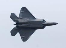 F-22 rovfågel Jetfighter Arkivbilder