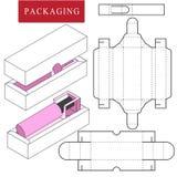 F?rpackande design Vektorillustration av asken packemall Isolerad vit ?terf?rs?ljnings- ?tl?je upp vektor illustrationer