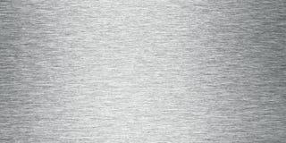 F?rsilvra borstat bel?gger med metall bakgrundsbanret fotografering för bildbyråer