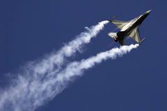 F-16. From Rygge Airshow in Norway 2009 royalty free stock photo