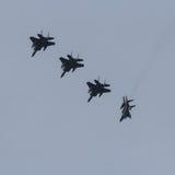 F-15 ` s ломая образование во время тренировки флага Frisian Стоковые Фотографии RF