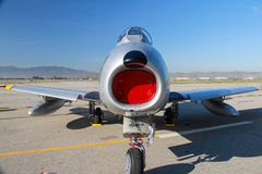 F-86 Sabre Frontal. On tarmac Stock Photography