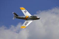 F-86 SABRE Jet Lizenzfreie Stockbilder