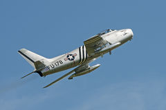 F86 Sabre. North American F86A Sabre displaying at the Shuttleworth Collection Royalty Free Stock Photos