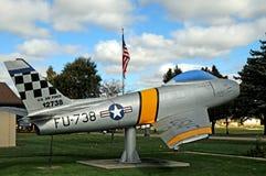 F86 Sabrejet空军队战斗机 免版税库存照片